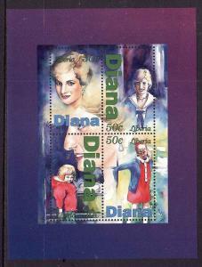 D2-Liberia-unused NH sheet-Royalty-Princess Diana as a child