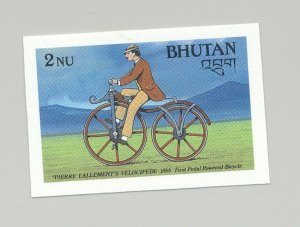Bhutan #643 Bicycles 1v Imperf Proof