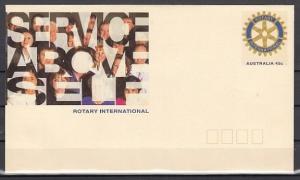 Australia, 1993 issue. Rotary International Postal Envelope. *