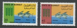 Kuwait 1966 Freedom from Hunger Scott # 310 - 311 MNH