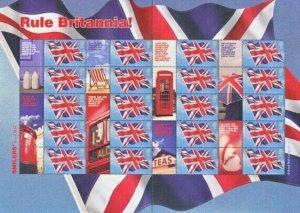 2004 RULE BRITTANIA SMILER SHEET - LS20 - UNMOUNTED MINT - POST BOX / UNION JACK