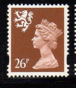 GB Scotland SC SMH66 1996 26p brown Machin Head stamp mint NH