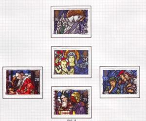 Great Britain Sc 1468-72 1992 Christmas stamps used