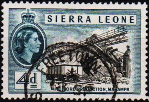 Sierra Leone. 1956 4d S.G.215 Fine Used