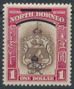North Borneo  SG 347 SC# 235 MH    OPT GR Crown - See scans