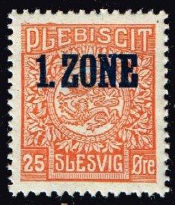 GERMANY STAMP PLEBISCIT 1.ZONE OVERPRINT SLESVIG  25øre MH/OG TYPE 7 VI  $90