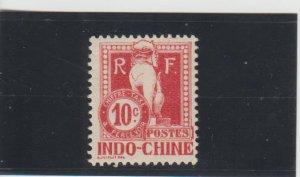 Indo-China  Scott#  J8  MH  (1908 Postage Due)