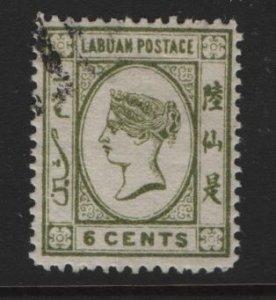LABUAN, 34, USED, 1892, QUEEN VICTORIA