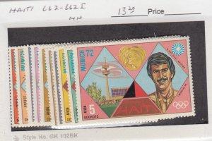 J25852  jlstamps 1972 haiti set mnh #662-662I sports