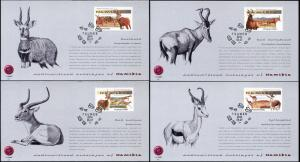 Namibia. 2014. Medium Antelopes of Namibia (Mint) Set of 4 Maxi Cards