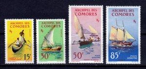 J26955 1964 comoro islands set mh #61-2,c10-11 boats