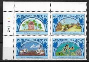 1989 Marshall Islands 212a Links to Japan MNH PB4