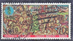 PHILIPPINES SCOTT# 995 **USED** 70s 1968  TOBACCO INDUSTRY SEE SCAN