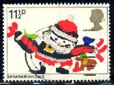 X'mas, Santa Claus, Children Drawing, Great Britain SC#960