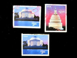 US - SCOTT# 3647,3647a,3648 - USED - CAT VAL $14.00