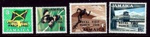 Jamaica 248-51 MNH 1966 Royal Visit overprint    (ap3247)