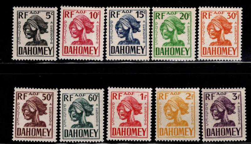Dahomey Scott J19-28 MH* postage due set 1941