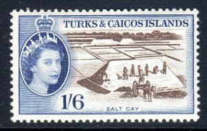 Turks & Caicos  1957-62 ..    sg 247 . 1/6d  -  MM     cv £21.00