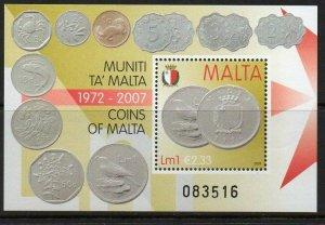 MALTA SGMS1583 2007 COINS OF MALTA (1972-2007) MNH