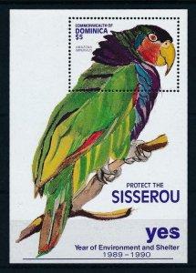 [105788] Dominica 1991 Bird vogel oiseau parrot Environment Souvenir Sheet MNH