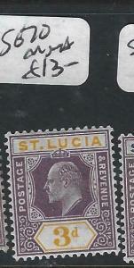 ST LUCIA  (P2705BB)  KE  3D  SG 70   MNH