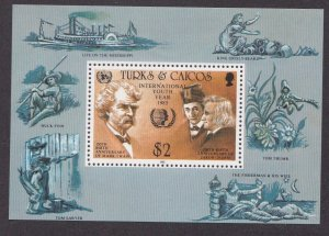 Turks & Caicos Islands # 675, Int'l Youth Year, Souvenir Sheet,  NH, 1/2 Cat.