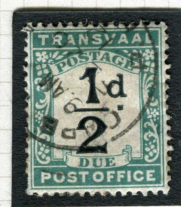 TRANSVAAL Postage Due issue Ed VII CAPE TOWN Postmark on 1/2d. value