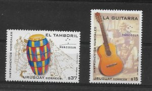 URUGUAY 2006 MUSICAL INSTRUMENTS TAMBORIL GUITAR  MUSIC