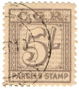 (I.B) Cape of Good Hope : Cape Government Railway Parcel 5/-