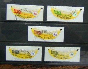 Tonga 1969 Banana set Coil Stamps Used
