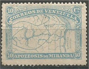 VENEZUELA, 1896, MNH 10c  Map, Scott 138