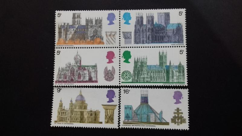 Great Britain 1969 British Cathedrals Mint