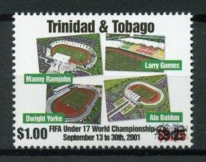 Trinidad & Tobago 2018 MNH FIFA U17 Football Stadiums $1 OVPT 1v Set Stamps
