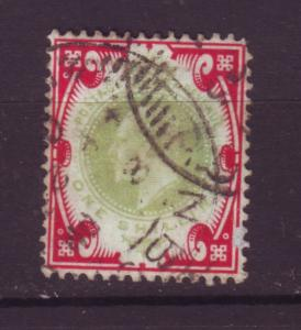 J19717 Jlstamps 1902-11 great britain used #138 1sh king