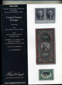 Siegel US Stamp Sale featuring 3 Major Collections