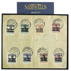 POLAND LOCALS *Sieradz* Cover & 2 Stamps 1919 Germany WW1 Overprints MS4287
