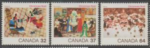 Canada Scott #1040-1041-1042 Christmas Stamp - Mint NH Set