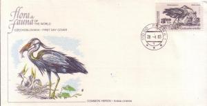 Czech. FDC SC# 2459 Common Heron L146