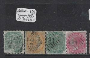 ADEN INDIA USED IN FORERUNNERS  (PP2604B)  124 CANCELS ON 4  EARLY QV