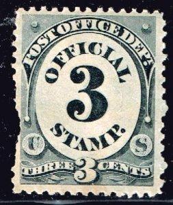 US STAMP BOB #O49 1873 3¢ Official Stamp Post Office MNH/OG left perf pulled