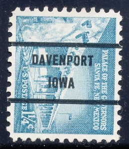 Davenport IA, 1031A-71 Bureau Precancel, 1¼¢ Palace of Governors