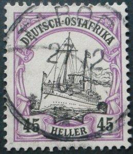 German East Africa 1905 Forty Five Heller with TABORA postmark