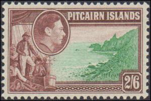 1940-1951 Pitcairn Islands #1-8, Complete Set(10), Hinged