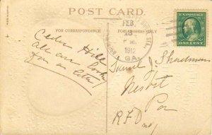 United States Georgia (Saint Simons Rur. Sta.) Brunswick 1912 4a-bar  1908-19...