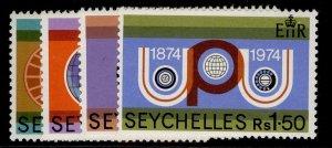 SEYCHELLES QEII SG327-330, 1974 centenary of UPU set, NH MINT.