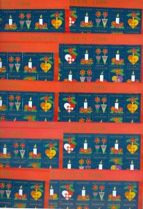 Denmark. 10 Christmas Seal, Sheet 2006 Unfolded. Decorations. 2 Side Perfor.