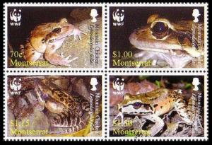 Montserrat MNH Block 1159 Mountain Chicken Frog WWF 2006
