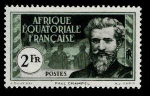 French Equatorial Africa  AEF Scott 63 MH*