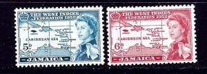 Jamaica 176-77 MH 1958 issues