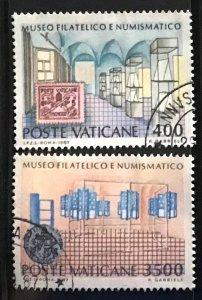 Vatican #793-794 U CV$5 Philatelic/Numismatic Museum [86546]